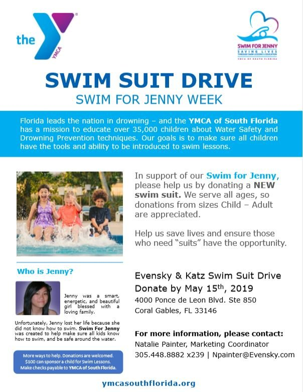 2019 YMCA of South Florida Swim Suite Drive event