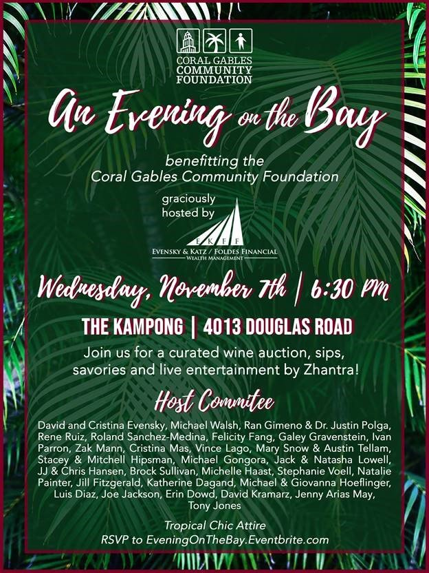 November 7th, 2018 An Evening on the Bay event